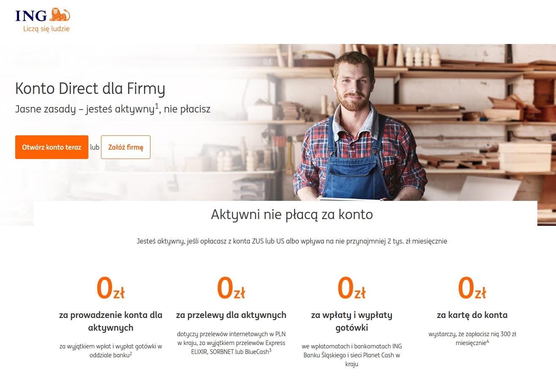 Konto Direct dla Firm ING